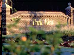 Park West entrance sign
